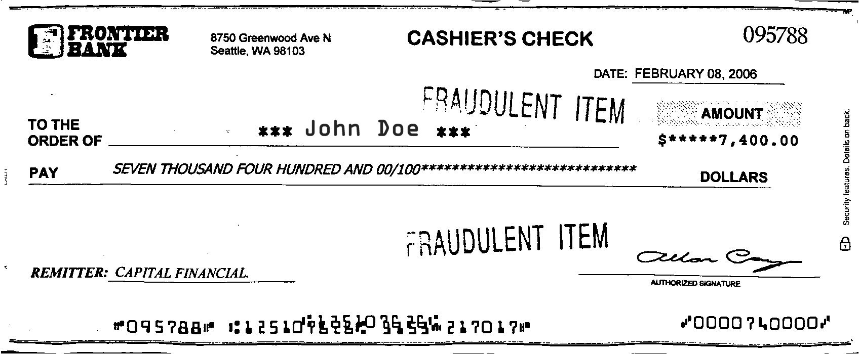 Charitywateremailexample How To Write A Check Example Thousand Fraud: It  Can Happen To You · Check How To Do A